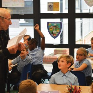 77-year-old visits former primary school as part of history project