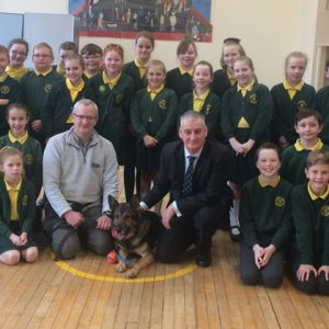 Service dog visits primary school to conclude creative writing module