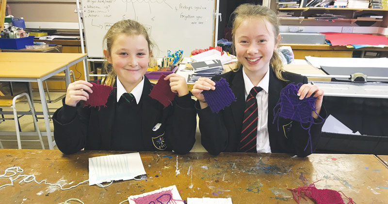 Pupils knit bonding squares for premature babies to tackle hospital shortage
