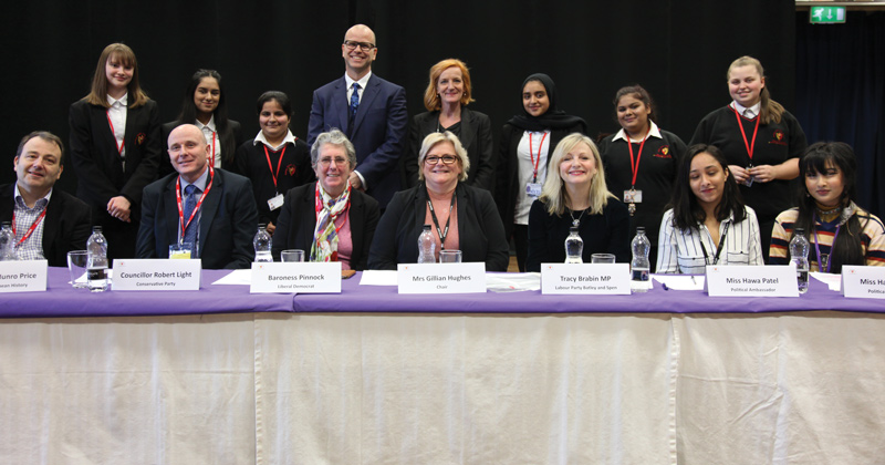 Politicians debate big issues with pupils at Question Time event