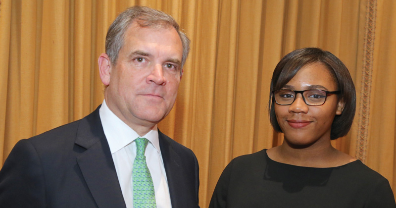 Sixth-former quizzes insurance boss on how to boost employability