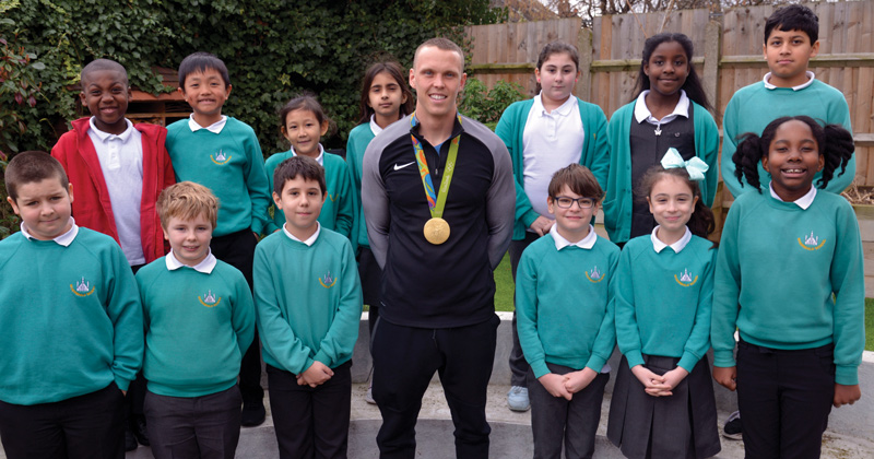Visit from Olympic canoeist inspires pupils to get more active