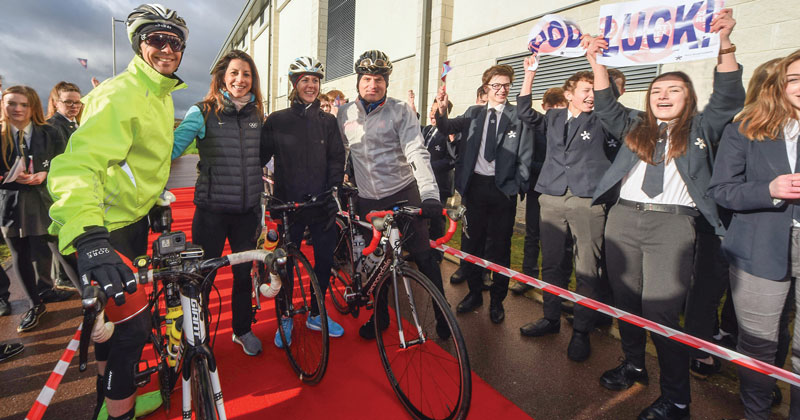 Multi-academy trust staff visit 25 schools on cycling tour