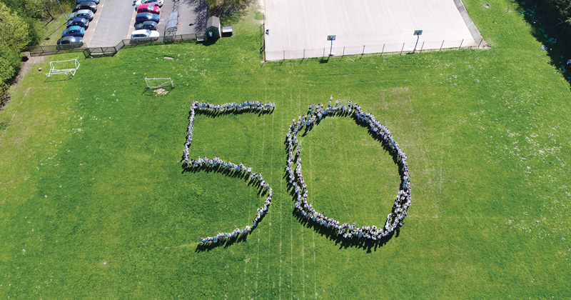 School uses 50th anniversary to teach pupils about local history