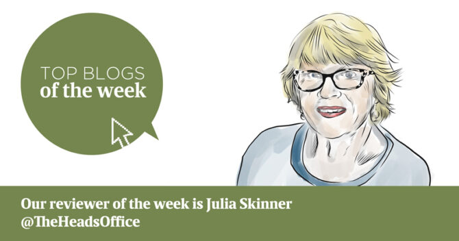 Julia Skinner's edu-blogs of the week, 30 September 2019