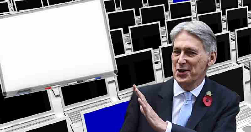 Budget 2018: Hammond says 'little extras' pledge could cover 'whiteboards and laptop computers'