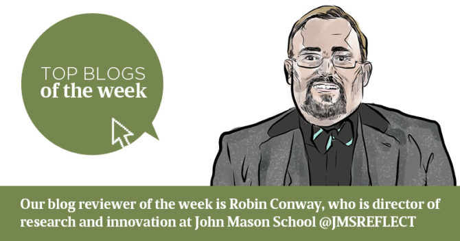 Robin Conway's top edu-blogs of the week, 16 September 2019