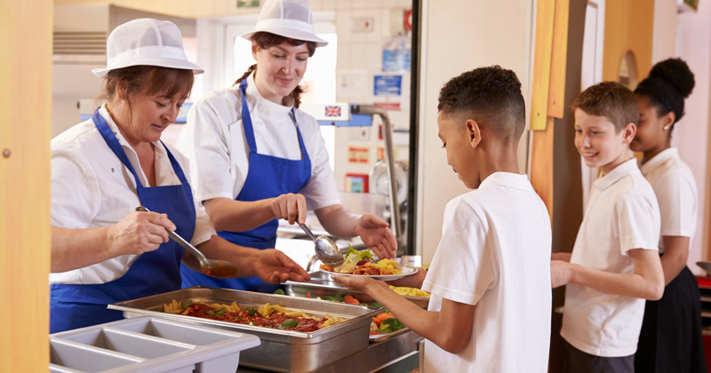 Pupils without 100% attendance sent to the back of the lunch queue