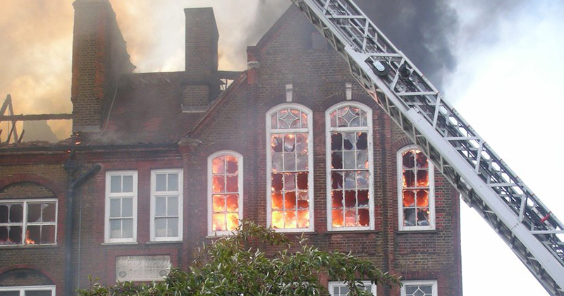No sprinklers in any London schools that had fires this year