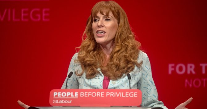 Angela Rayner at Labour party conference 2019