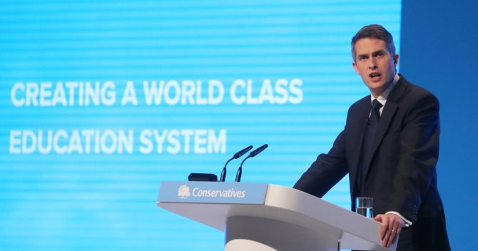 Gavin Williamson at Conservative party conference 2019