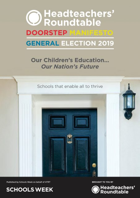Headteachers' Roundtable Doorstop Manifesto – General Election 2019