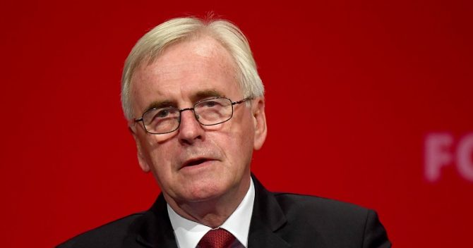 McDonnell: We'll replace and upgrade schools with share of £150bn fund