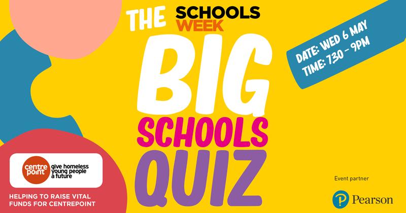 How to take part: the Schools Week Big Schools Quiz