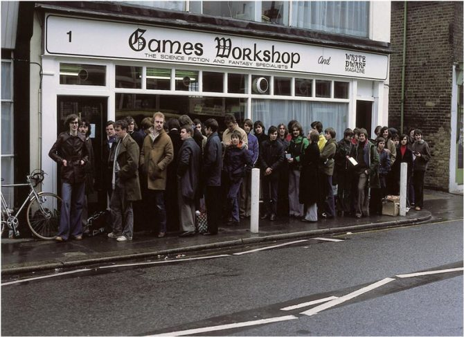 Queue outside Livingstone's first Games Workshop