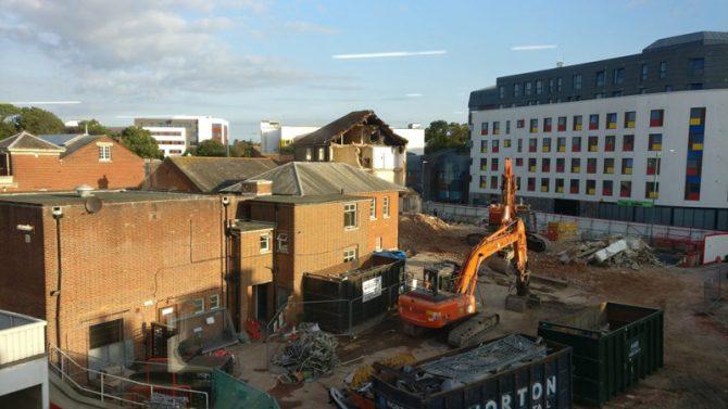 Livingstone Academy Bournemouth building site